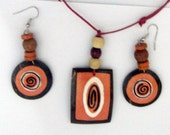 Pair of Handmade Pendant and Earrings