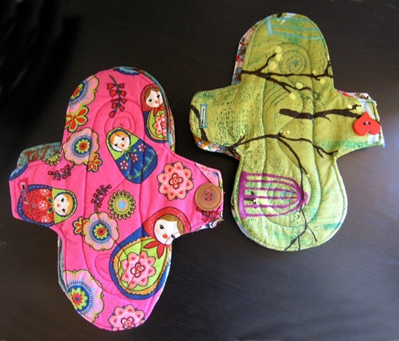Sanitary pads  - easy SEWING PATTERN to make your own reusable cloth pads