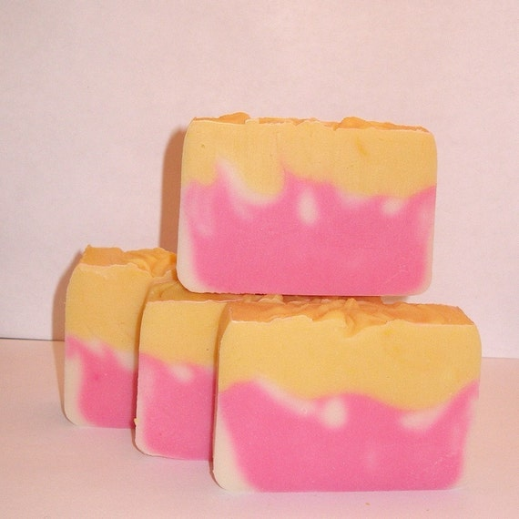 Magnolia Peach Melba Luxury Cold-Processed Soap with Shea and Cocoa Butters