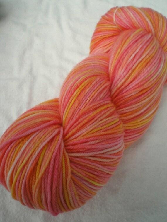 SOCK YARN - Merino / Cashmere / Nylon Sock Yarn, Chastity colorway
