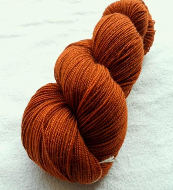 SOCK YARN, Tight Twist Superwash Merino Wool Sock Yarn, Smoked Paprika