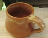 RUST ORANGE COFFEE CUP - FREE SHIPPING
