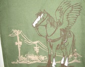 Green Flying Horse Tank Top