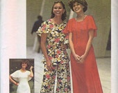 Simplicity 7128 Misses Dress, Top, Pants 70s Vintage Sewing Pattern Size 16 Bust 38 Cape Collar Stretch Knit
