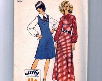 Simplicity 5239 Misses Maxi/Short Dress 70s Vintage Sewing Pattern Size 14 Bust 36 Uncut