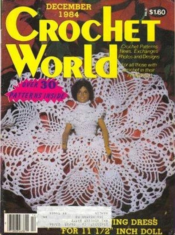 Crochet World Dec 1984 Pattern Magazine by patternmania on Etsy