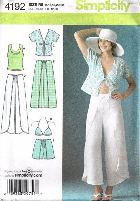 Misses Wrap Pants Bra Top Sewing Pattern By Patternmania