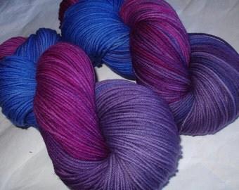Merino yarn, hand painted merino yarn, FARINELLI, superwash merino yarn, sport weight yarn, sock yarn,, 3.5oz/100g