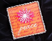 Peace Soldered Glass Mirror