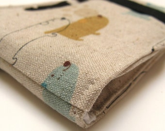 Fabric Wallet | Vegan Wallet | Fabric Billfold Wallet | Doggie Wallet