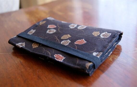 Fabric Wallet | Vegan Wallet | Billfold | Owl Wallet