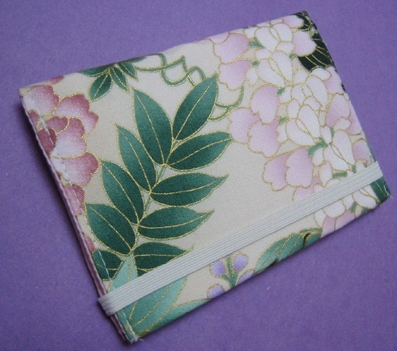 RESERVED FOR LILYMAMA SALE Bifold Wallet - Ivory floral
