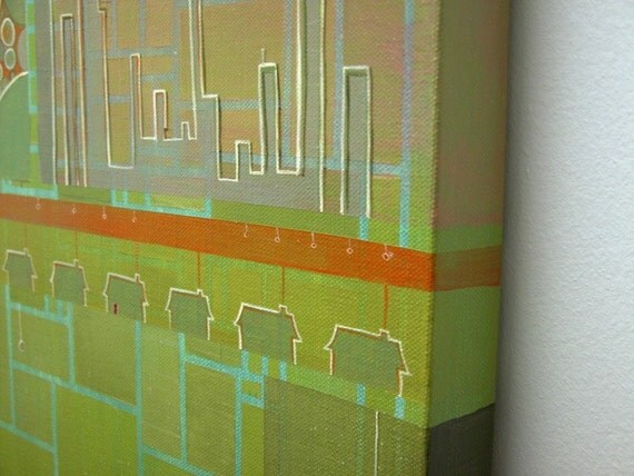 SALE-Greenscape Original Painting