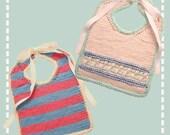 Knit Baby Bibs Pattern PDF