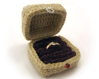 Crocheted Ring Box Pattern PDF