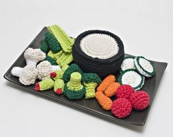 Crochet Vegetable Tray Pattern PDF