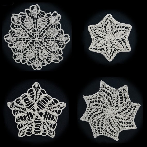 Knitted Snowflake Patterns : More Knit Snowflakes Pattern PDF