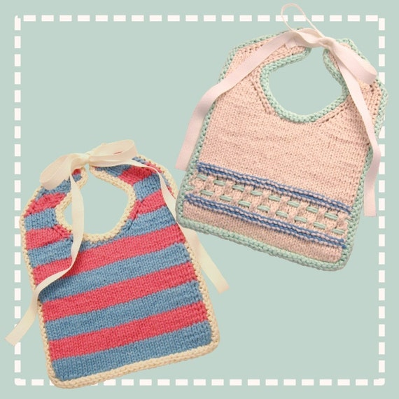 Infinity Scarf Free Knitting Patterns : Knit Baby Bibs Pattern PDF