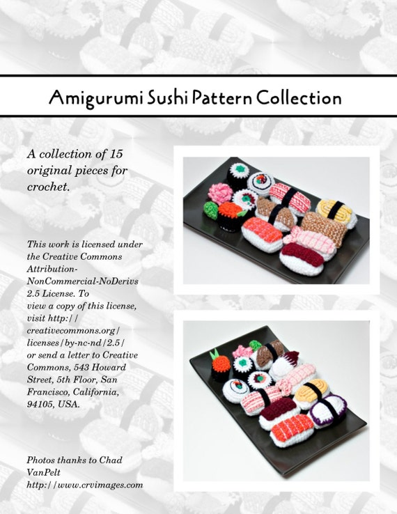 Amigurumi Sushi Free Pattern : Amigurumi Sushi Pattern Collection PDF
