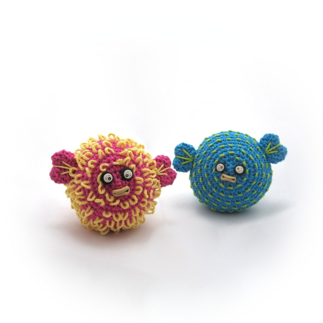 Amigurumi Puffer Fish : Crocheted Pufferfish Pattern PDF