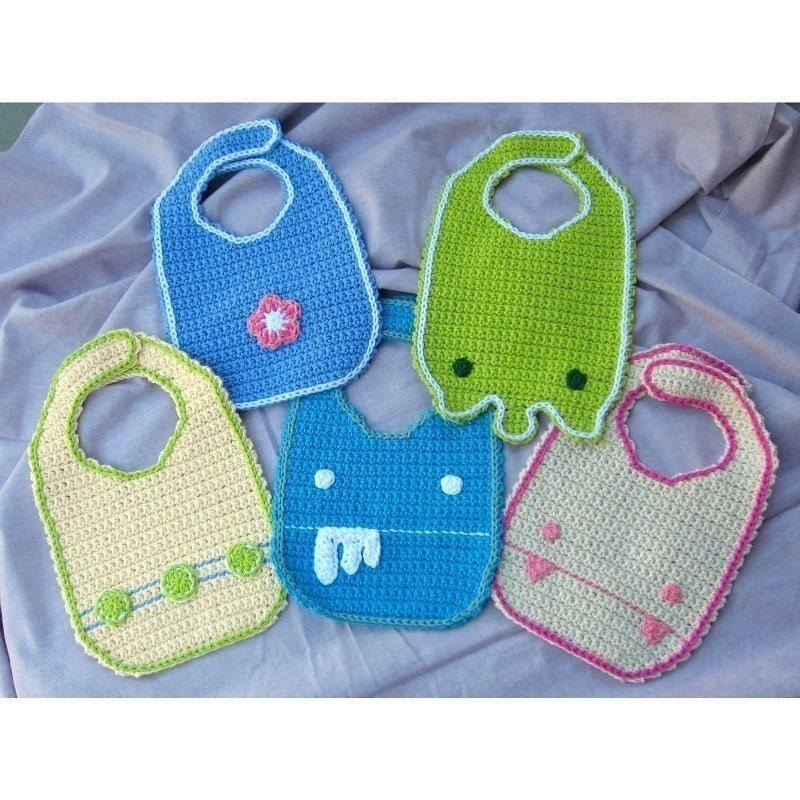 Crochet Patterns Baby Bibs : Crochet Baby Bib Pattern PDF