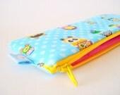 Pencil (and) Pen zipper pouch--- Animal nesting dolls - Pencil Case - Planner Pouch