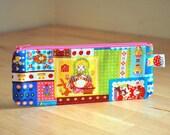 Nesting dolls pouch - pencil pouch - pen case - zipper pouch