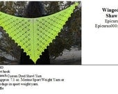 Crochet Shawl Pattern - Winged Victory