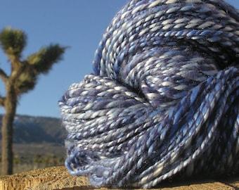 Hand Spun Yarn - Merino Wool, Tencel,  BFL Wool (Blue Faced Leicester) - Royalty