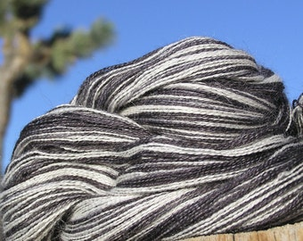 Lace Weight Yarn - Baby Alpaca, Silk, Cashmere - Forget Me Not with Beetle