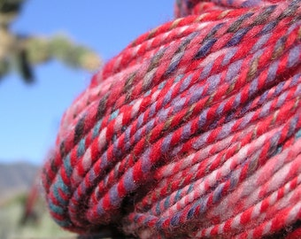 Hand Spun Yarn - Self Striping Yarn- Striper 2
