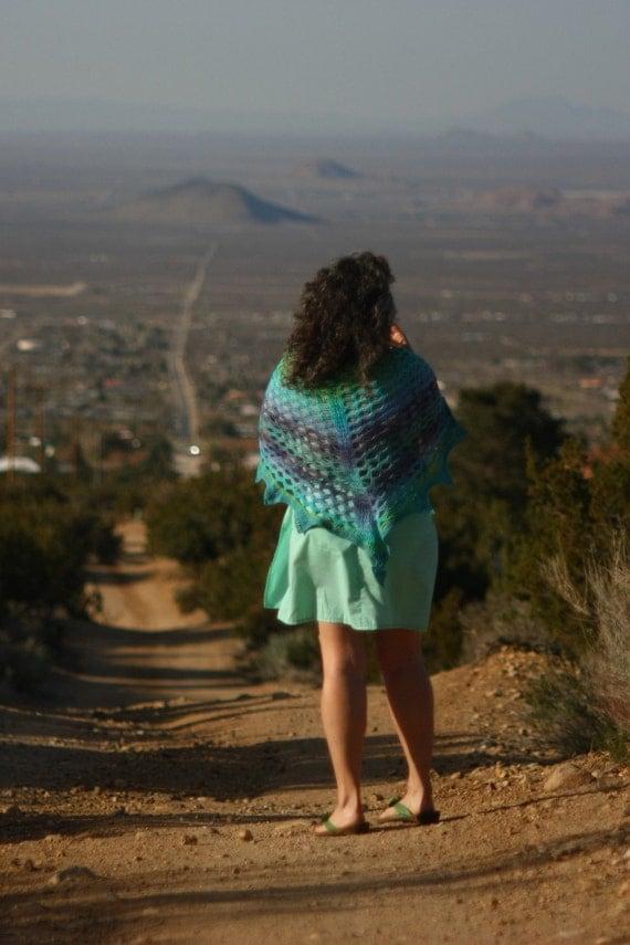 Crochet Shawl - Year of the Dragon Shawl - Paradise