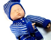 Baby Knitting PATTERN - Sweater and Hat - Easy DIY - Instant Download - Newborn Sweater Set - Shower Gift