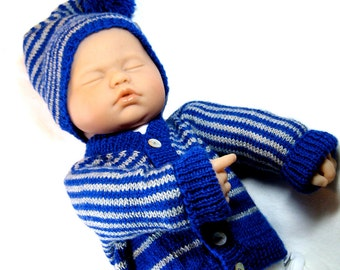 Knit Baby Sweater Set Pattern - Sweater and Hat - Easy DIY - Instant Download - Newborn Sweater Set - Shower Gift