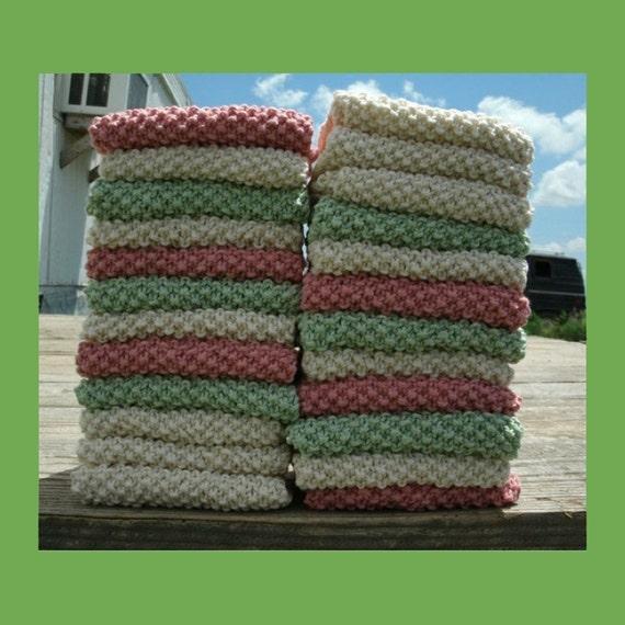 6 Knit Dishcloth Patterns Tutorials - E-book PDF - Fast Easy Ecofriendly DIY ...
