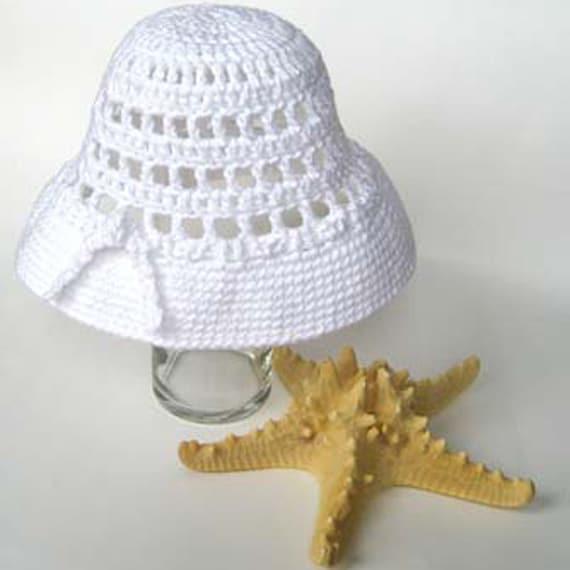 Crochet Hat Pattern - Ingrid Bergman Summer Sun Hat 1940s ...