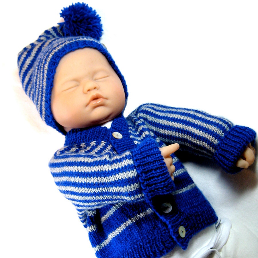 Easy Knitting Pattern For Baby Hat : Baby knitting pattern sweater and hat easy diy instant