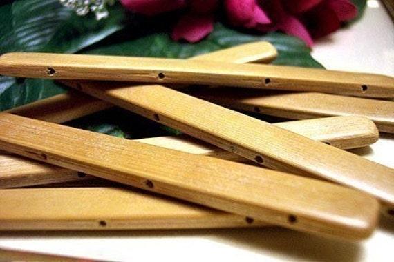 Brown Bamboo Stick ~ Bamboo stick tiles thin long hole caramel brown asian