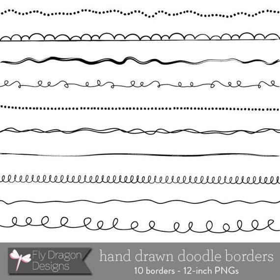 Digital Doodle Borders / Frames - Digital Clip Art for Photographers & Scrapbookers