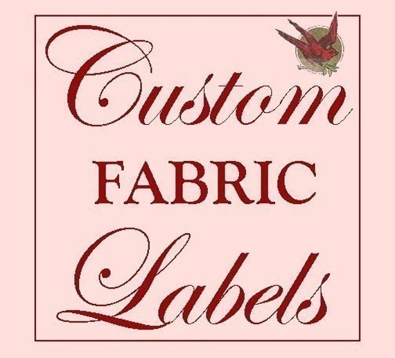 Custom SEW-IN Labels- Fabric Garment Tags with YOUR Logo- PLEASE READ FOR DETAILS