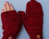 Knitting PATTERN - Convertibles - finglerless mitt pattern with a folding top  in PDF