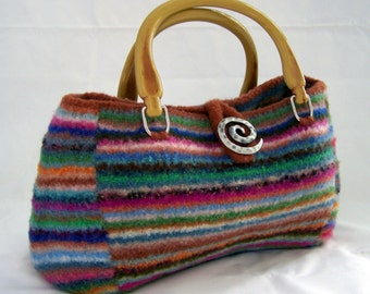 Knitting PATTERN  Felted Doctor  Bag Purse Satchel      (PDF - instant download)