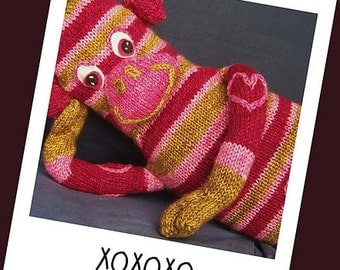 That Funky Monkey - A Stuffed Toy Knitting Pattern - Hot Monkey Sox PDF -Digital Delivery