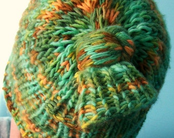 Knitting PATTRN- 2n1 Hat OR Cowl Accessory Pattern - ( PDF - digital delivery only)