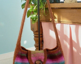 Felted Knitting PATTERN  Messenger - Satchel - Carry All Tote