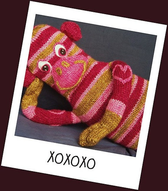 That Funky Monkey - A Stuffed Toy Knitting Pattern - Hot Monkey Sox PDF -Digital Delivery