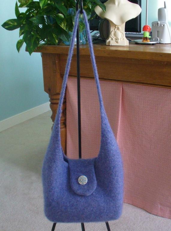 Knitting Pattern Felted Hobo Purse Handbag     ( PDF - digital delivery only)