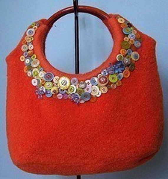 Felted Knitting Pattern  Ring Top Tote   (PDF - digital delivery only)