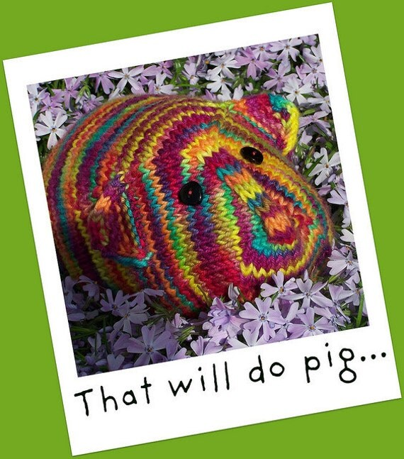 Guinea Pig Toy Knitting Pattern : This Little Piggy... A Stuffed Toy Knitting Pattern Guinea