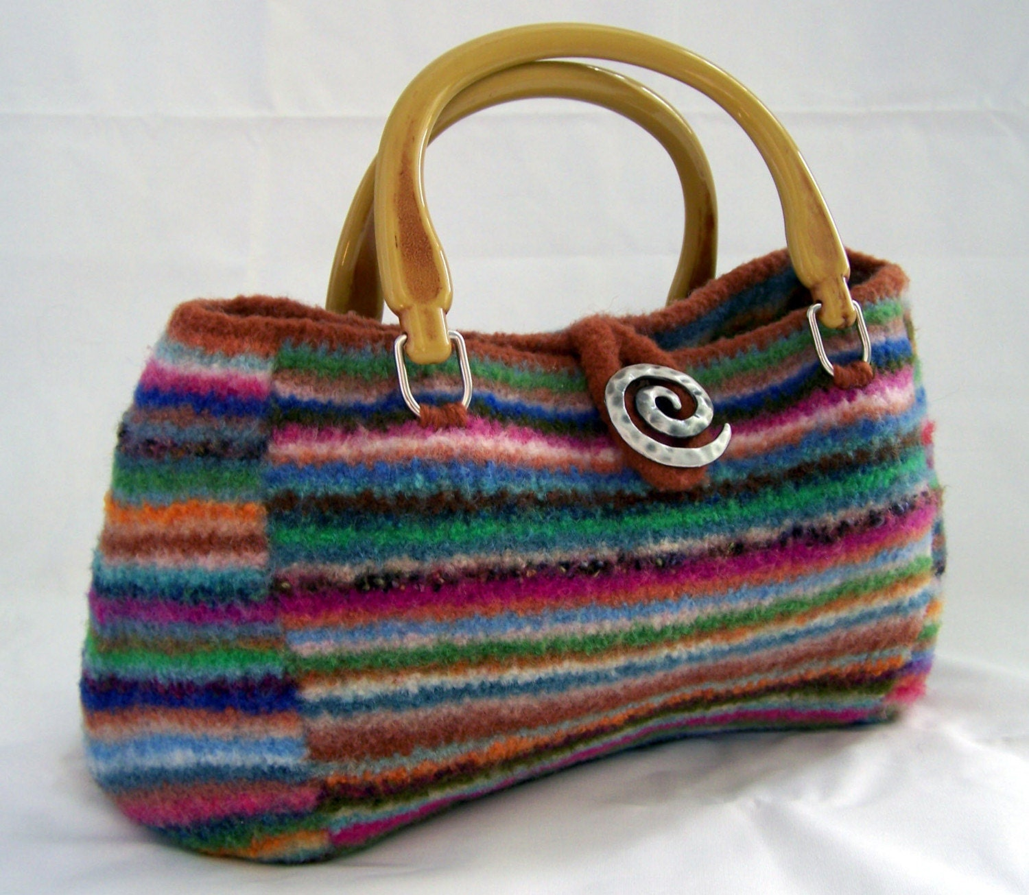 Knitted Purse Pattern : Knitting PATTERN Felted Doctor Bag Purse Satchel PDF